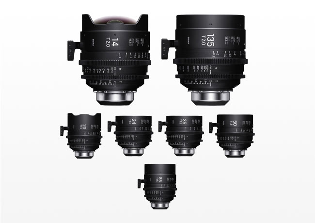 Kiralık Sigma Cine FF High Speed Art Prime Lens Seti (PL)