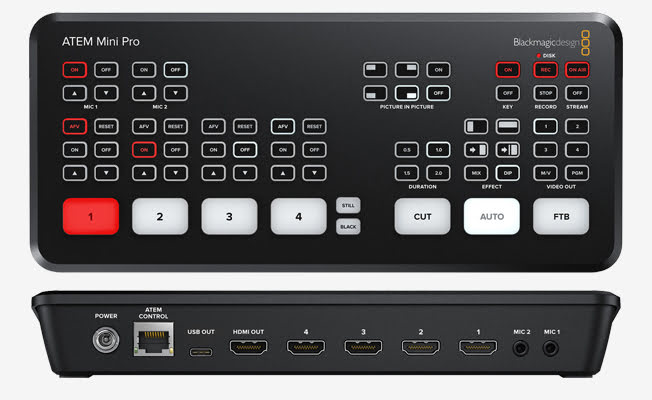 Blackmagic ATEM Mini Pro Canlı Detay