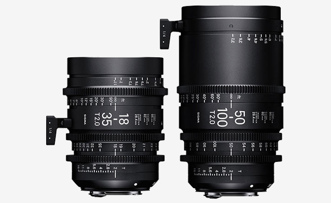 Sigma Cine Zoom Set EF (18-35mm - 50-100mm) eklendi